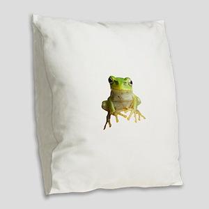 Pyonkichi the Frog Burlap Throw Pillow