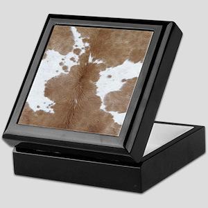 Cowhide Keepsake Box