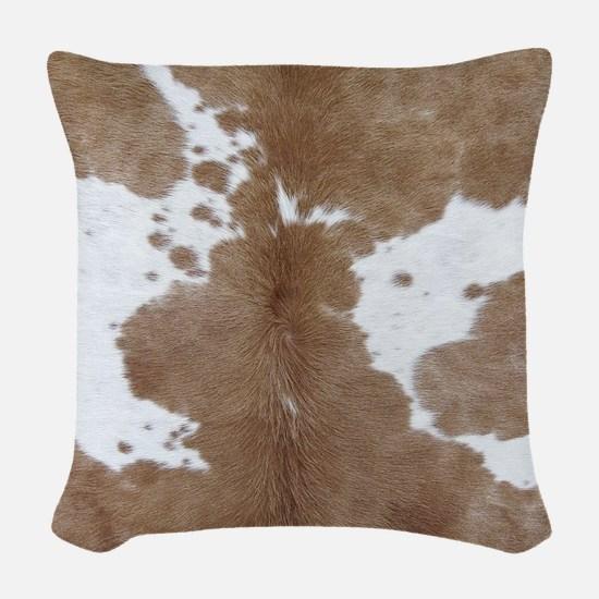Cowhide Woven Throw Pillow