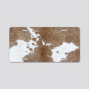 Cowhide Aluminum License Plate