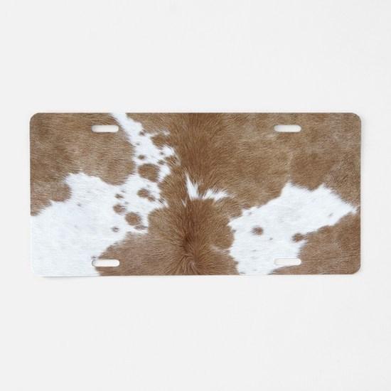 Cowhide Aluminum License Plate