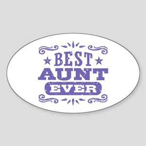 Best Aunt Ever Sticker (Oval)