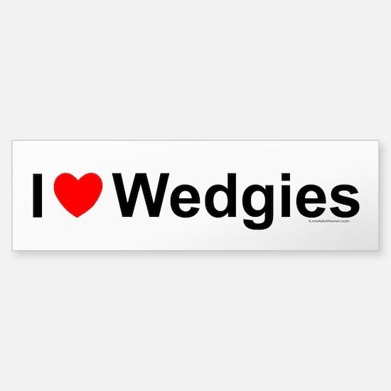 Wedgies Sticker (Bumper)