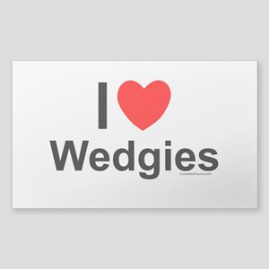 Wedgies Sticker (Rectangle)