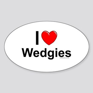 Wedgies Sticker (Oval)