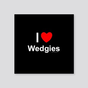 "Wedgies Square Sticker 3"" x 3"""