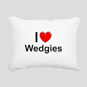 Wedgies Rectangular Canvas Pillow
