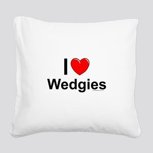 Wedgies Square Canvas Pillow