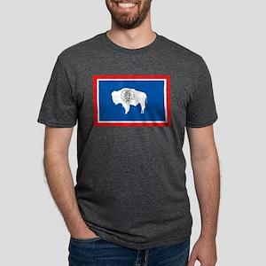 Wyoming Flag Ash Grey T-Shirt