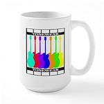 Rainbowear black Large Mug
