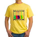 Rainbowear black Yellow T-Shirt