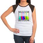 Rainbowear black Women's Cap Sleeve T-Shirt