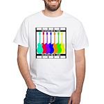 Rainbowear black White T-Shirt