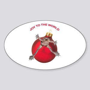 Joy To The World Oval Sticker