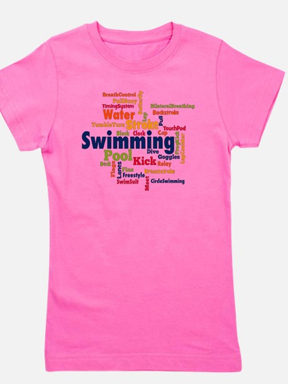 Funny Swimming breaststroke Girl's Tee