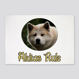 Akitas Rule 5'x7'Area Rug