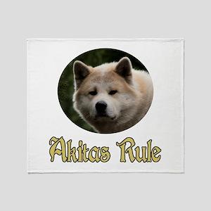 Akitas Rule Throw Blanket