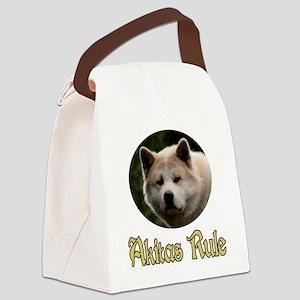 Akitas Rule Canvas Lunch Bag
