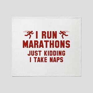 I Run Marathons Stadium Blanket