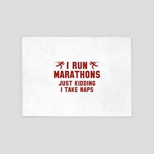 I Run Marathons 5'x7'Area Rug