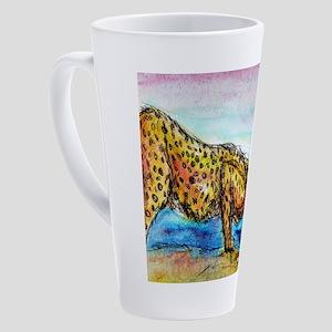 Cheetah! Wildlife art! 17 oz Latte Mug