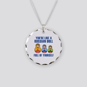 Full Of Yourself Necklace Circle Charm