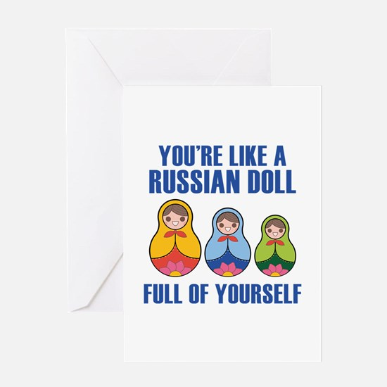 Full Of Yourself Greeting Card