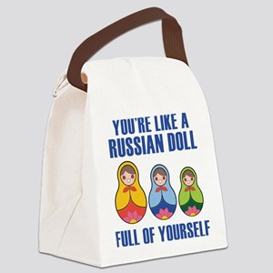 Full Of Yourself Canvas Lunch Bag