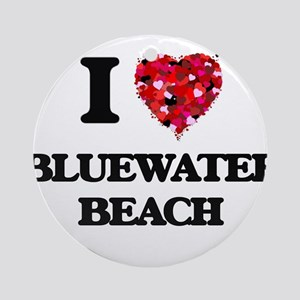 I love Bluewater Beach Florida Round Ornament