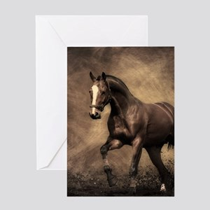 Horse greeting cards cafepress beautiful brown horse greeting cards m4hsunfo