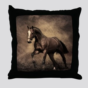 Beautiful Brown Horse Throw Pillow