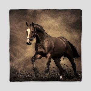 Beautiful Brown Horse Queen Duvet
