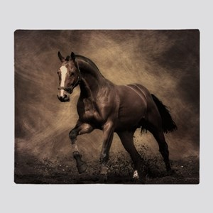 Beautiful Brown Horse Throw Blanket