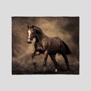 Beautiful Brown Horse Throw Blanket