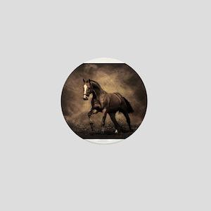 Beautiful Brown Horse Mini Button