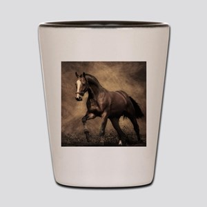Beautiful Brown Horse Shot Glass