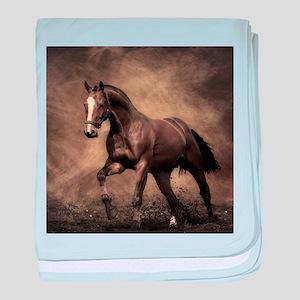 Beautiful Brown Horse baby blanket