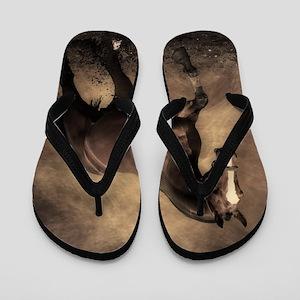 Beautiful Brown Horse Flip Flops