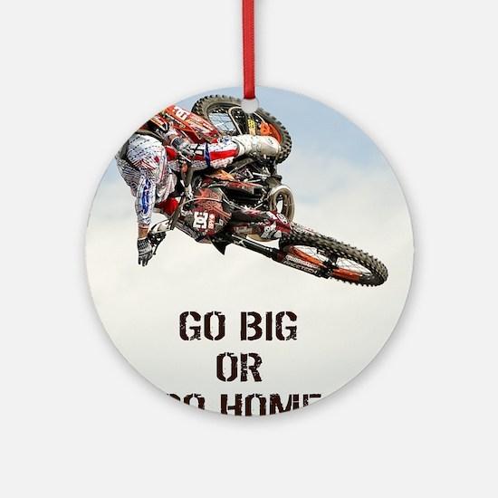 Motocross Rider Round Ornament