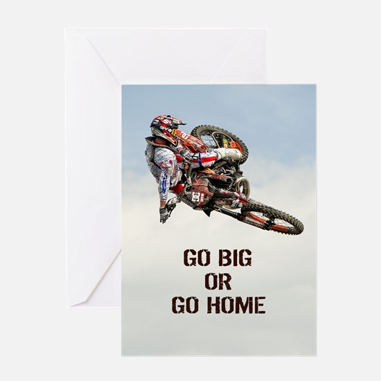 Motocross Rider Greeting Cards