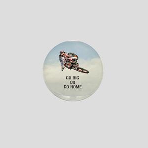 Motocross Rider Mini Button