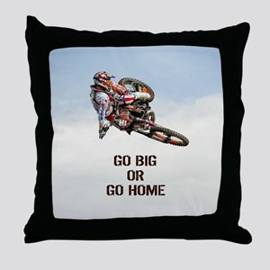 Motocross Rider Throw Pillow