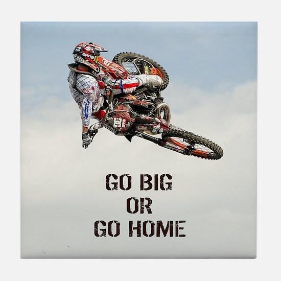 Motocross Rider Tile Coaster