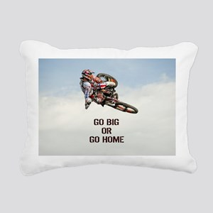 Motocross Rider Rectangular Canvas Pillow