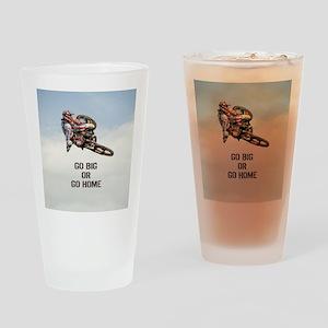 Motocross Rider Drinking Glass
