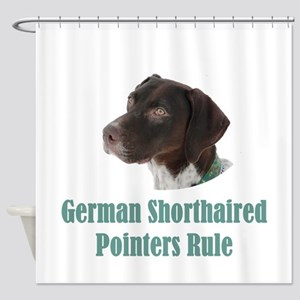German Shorthaired Pointers Rule Shower Curtain