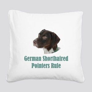 German Shorthaired Pointers R Square Canvas Pillow