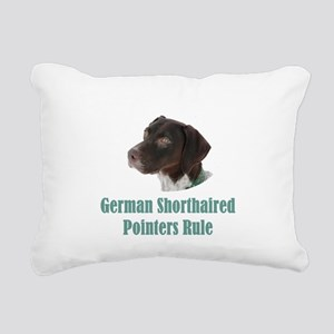 German Shorthaired Point Rectangular Canvas Pillow