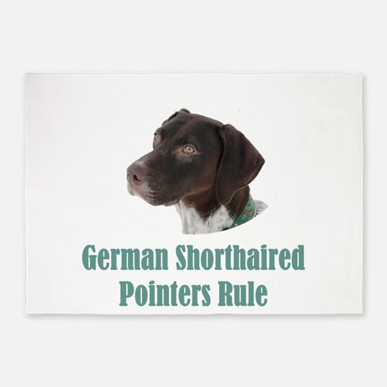 German Shorthaired Pointers Rule 5'x7'Area Rug
