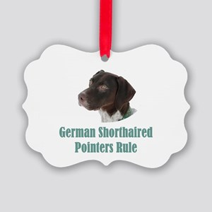 German Shorthaired Pointers Rule Picture Ornament